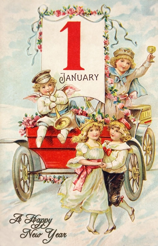 Gorgeous vintage New Year post card.