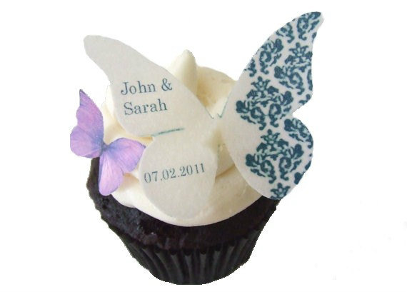 Custom edible butterfly cake topper...love this!