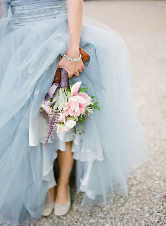 Monday Morning Blues: Blue Tulle Wedding Dress - The Brass Paperclip ...
