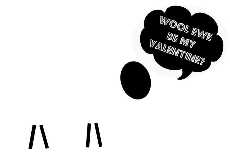 Free printable...Wool Ewe Be My Valentine?  Cute DIY Valentine project.