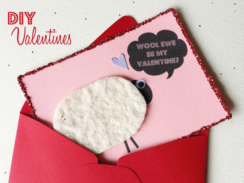 Wool ewe be my Valentine?  Cute and easy Valentine tutorial.