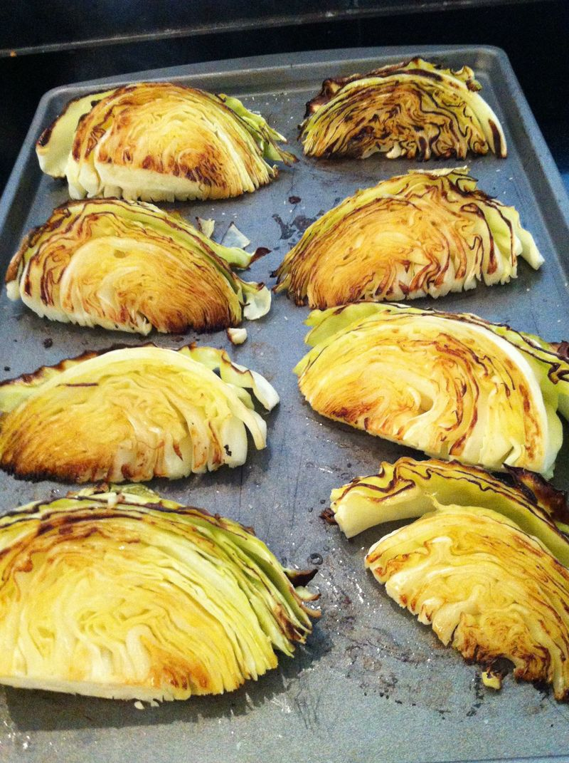 Roasted cabbage with lemon for St. Patrick's Day