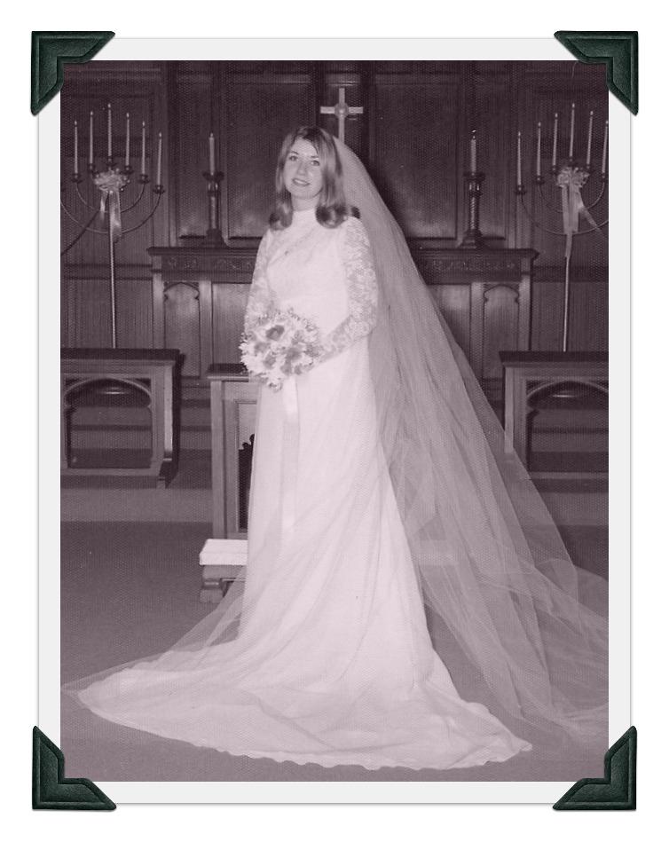 Vintage William Cahill Wedding Gown circa 1969