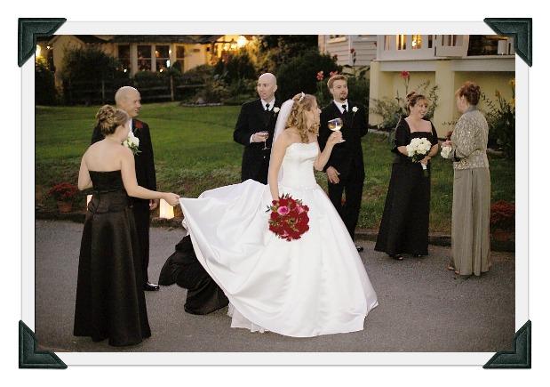 bustling wedding dress
