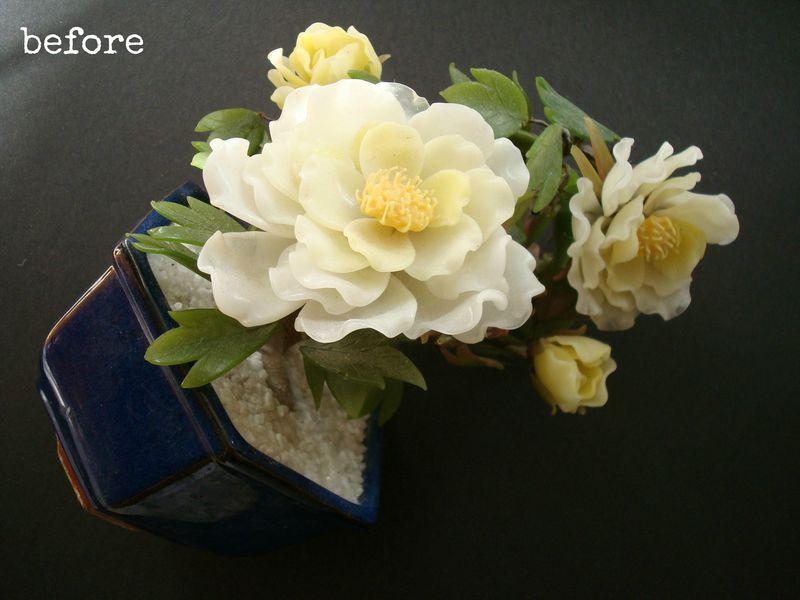 Vintage glass flower bonsai.