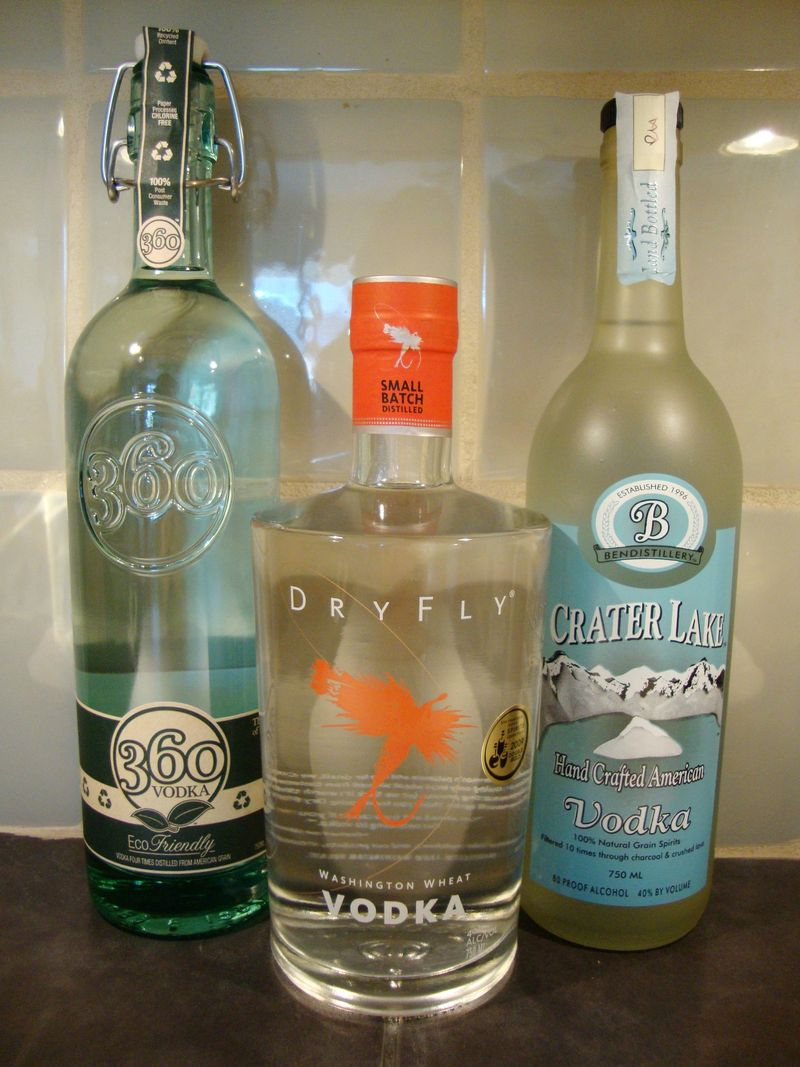 Locally distilled and eco-friendly vodka for homemade peppermint schnapps.