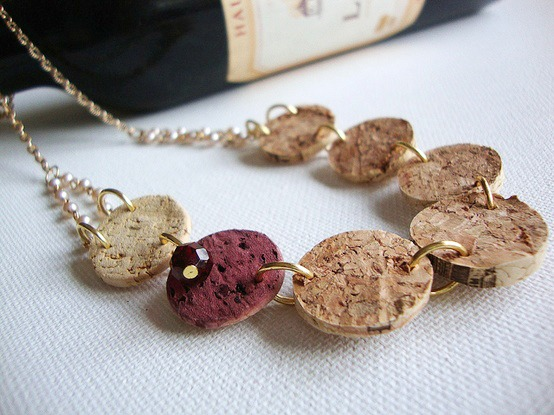 Grape Expectations - DIY recycled wine cork necklace