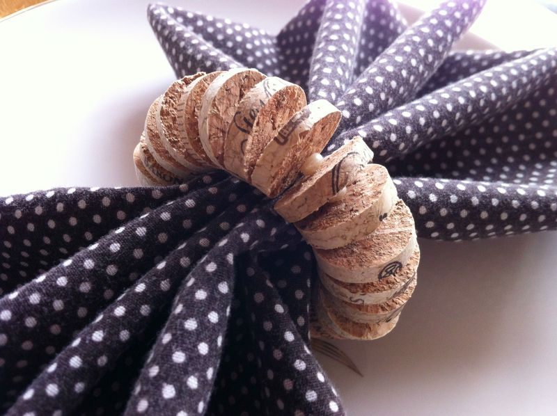 Weekend in Napa-kin Rings - DIY recycled wine cork napkin rings