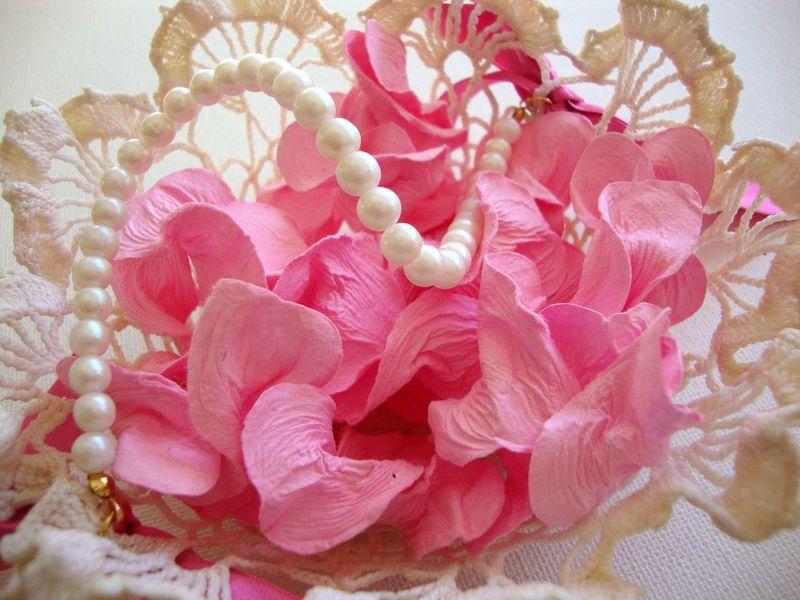Vintage doily flower girl basket...super sweet!