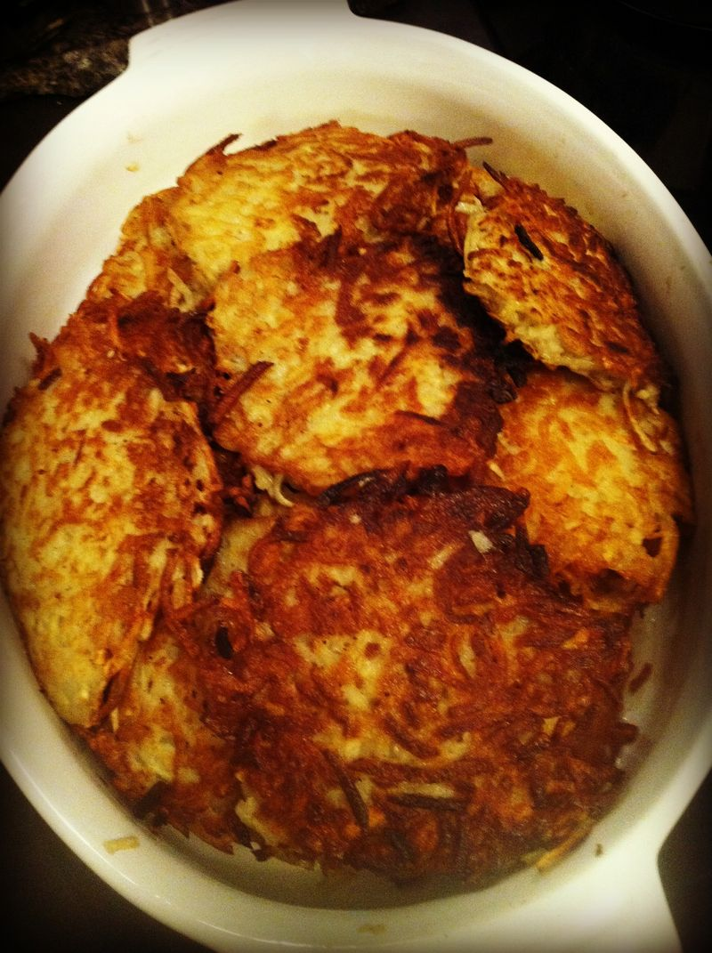 Recipe for perfect, golden, crispy potato pancakes...yum!