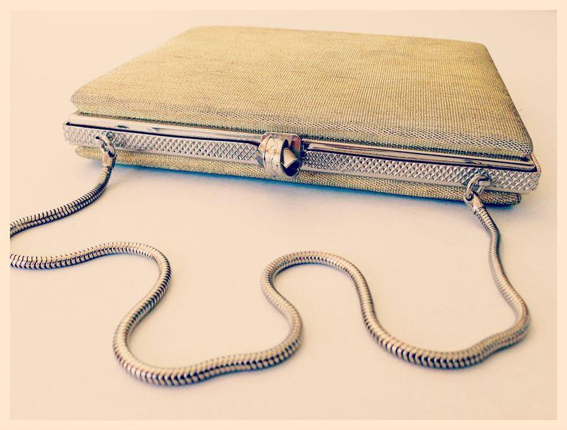 Sleek vintage evening bag...mid-century?