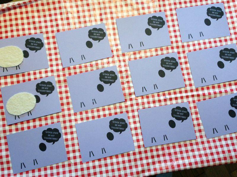 Printable template for cute DIY Valentines...Wool Ewe Be My Valentine?