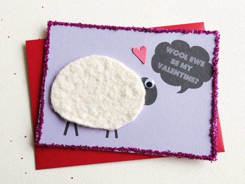 Sweet little Valentine...Wool ewe be mine?