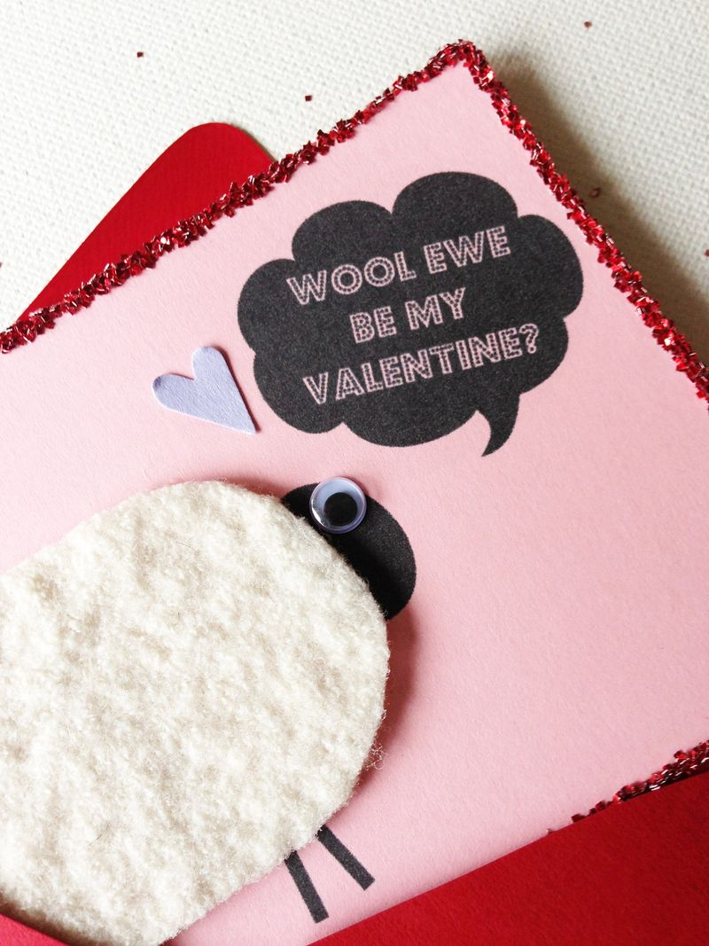 Wool ewe be my Valentine??