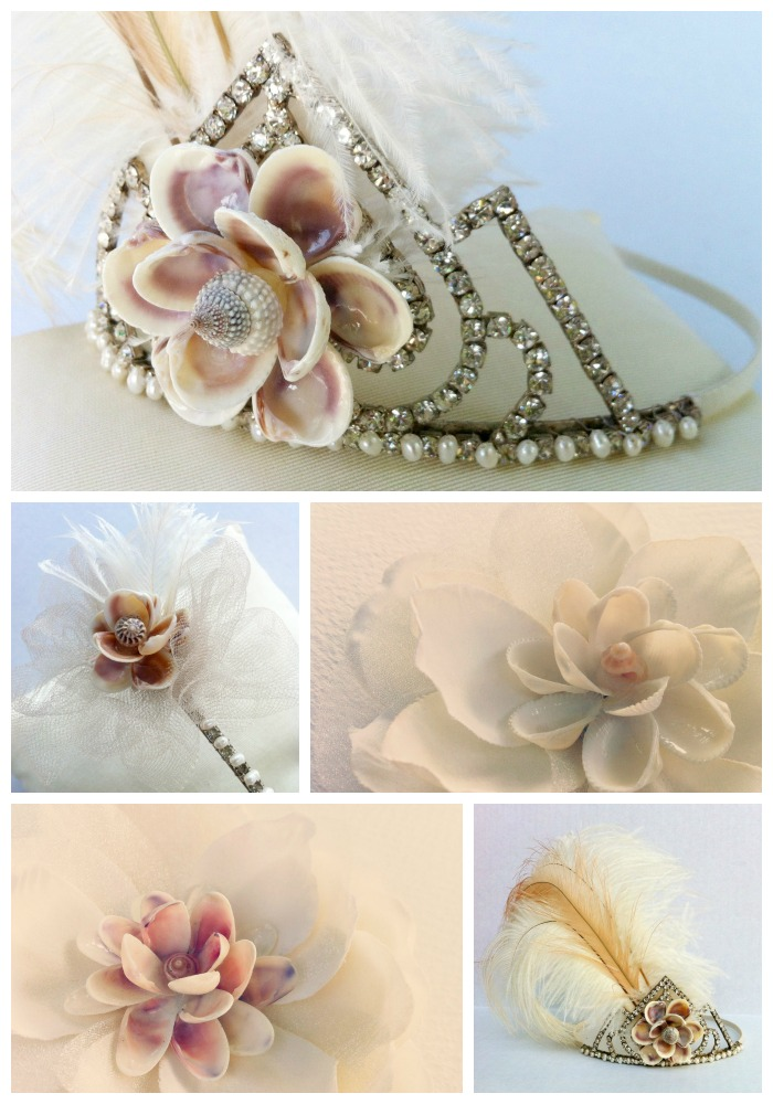 Sea Shell Flower Bridal Accessories