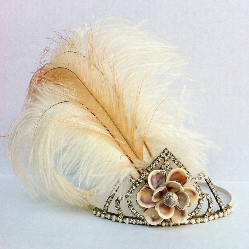 This tiara would be perfect for a beachy boho chic bride...or a mermaid.  ;)