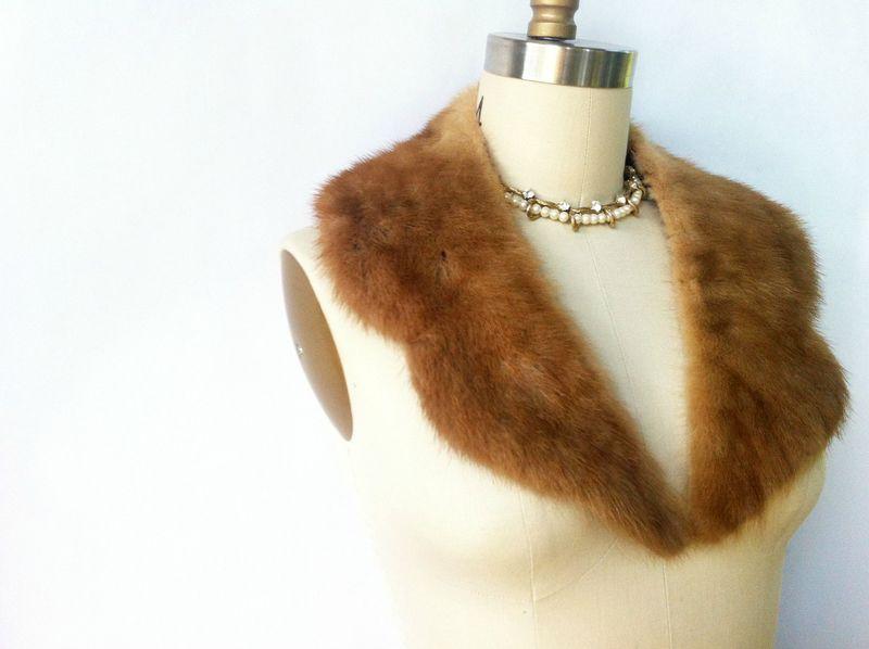 Gorgeous vintage fur collar - mink?