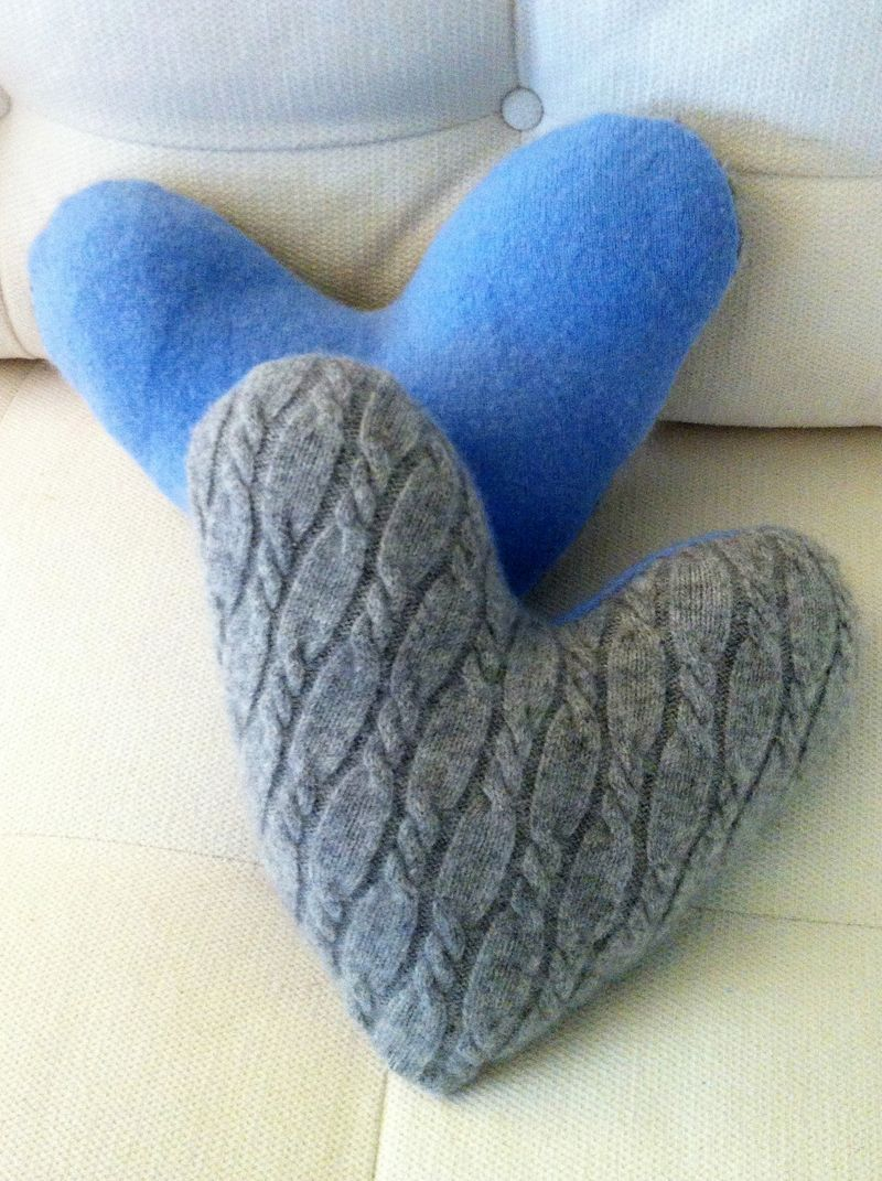 Recycled cashmere masectomy pillows