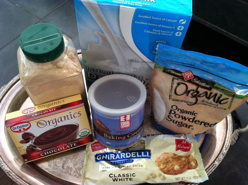 Ingredients for homemade hot cocoa