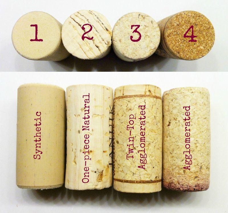 Types of wine corks