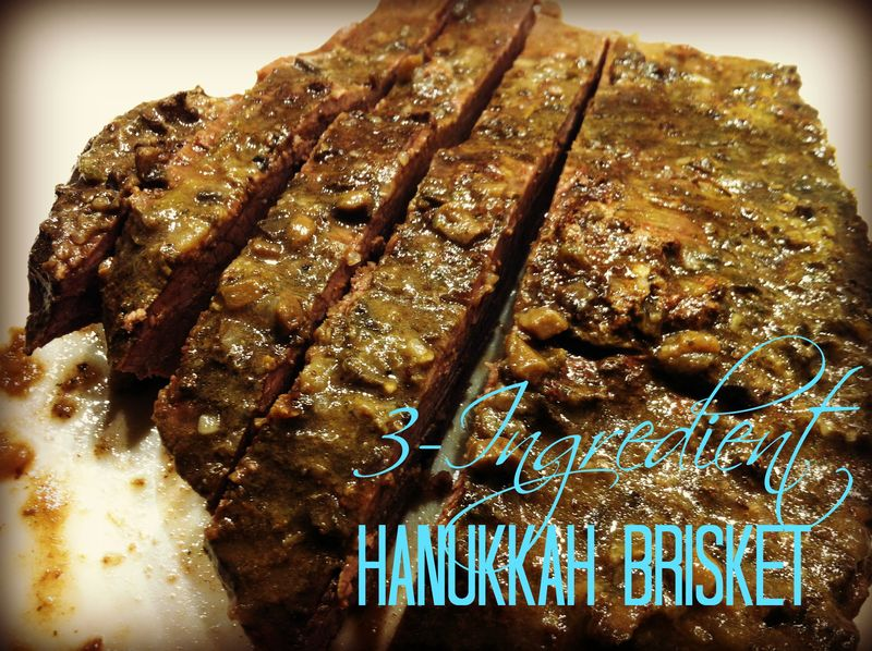 Simple and d'lish 3-ingredient recipe for Hanukkah beef brisket.