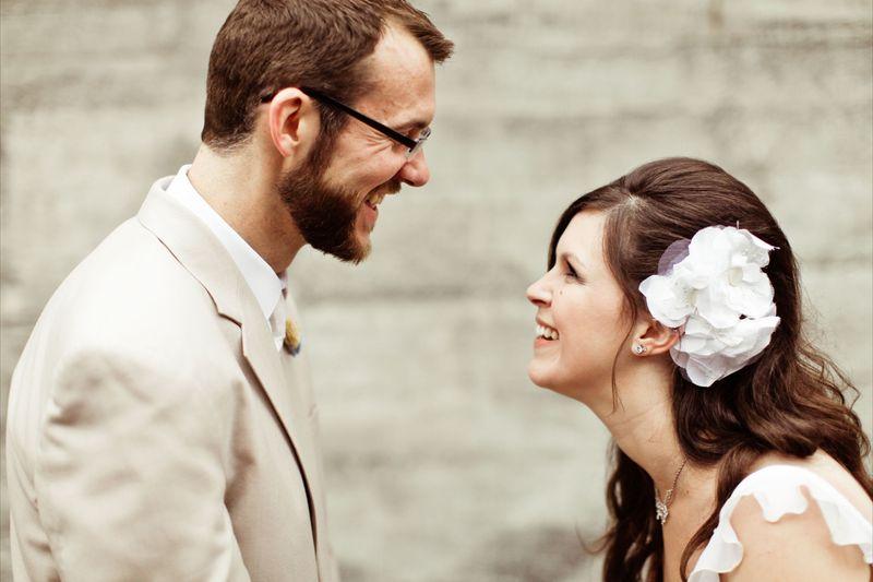 Love the joy in their faces!  Cute bride and groom shot by Kaylee Eylander | http://eylanderphotography.com/