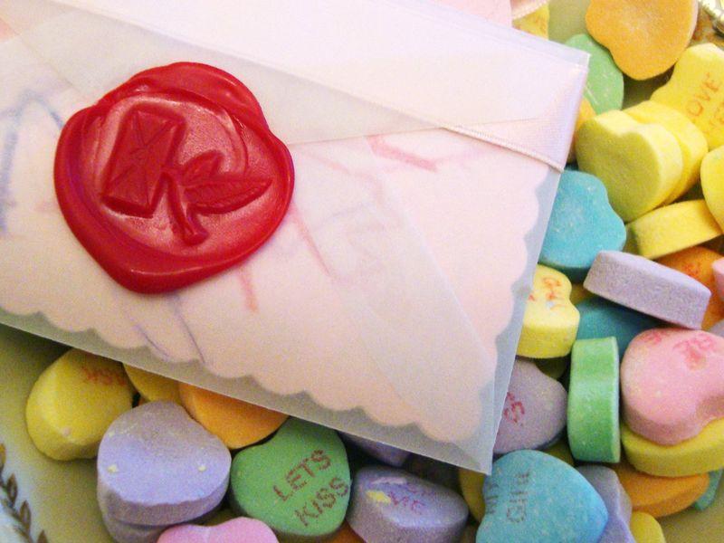 Love bird wax seal....Valentine fun!