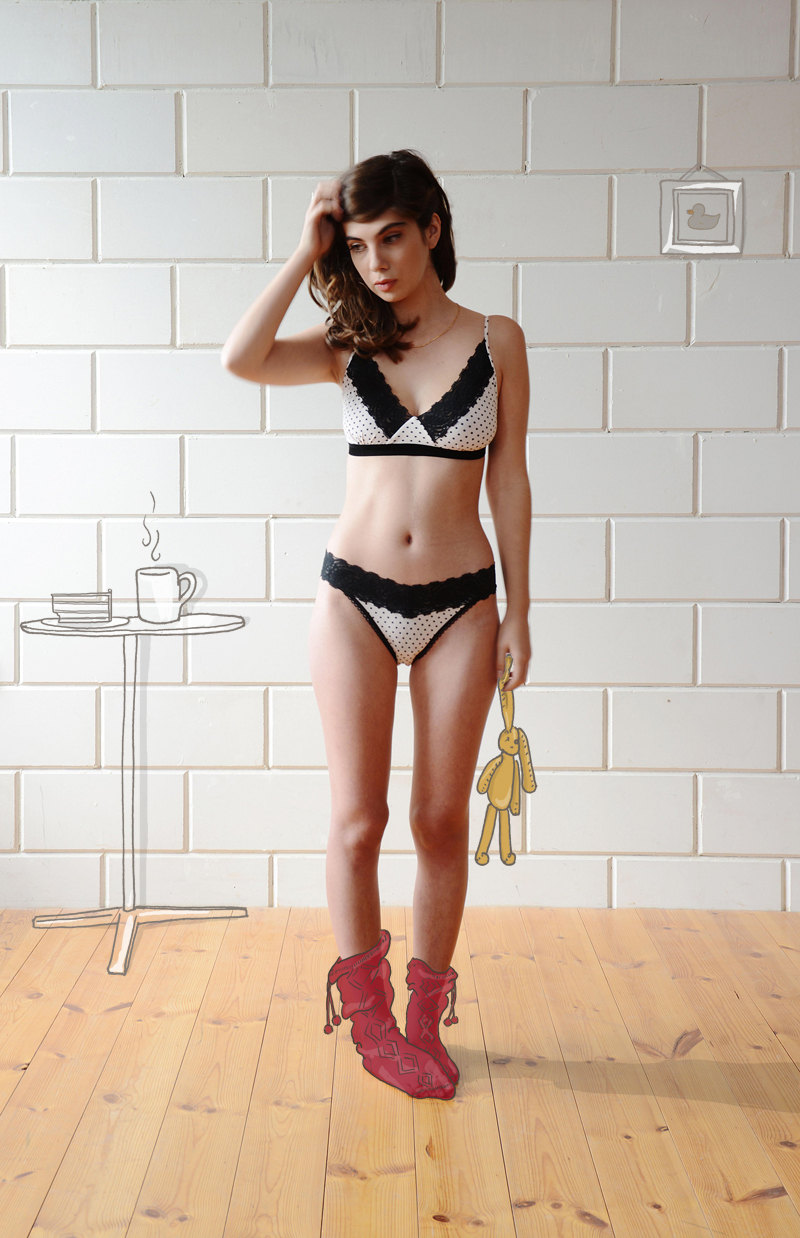 How cute is this polka dot lace lingerie set??  by Ugly Duckling Gal Angel