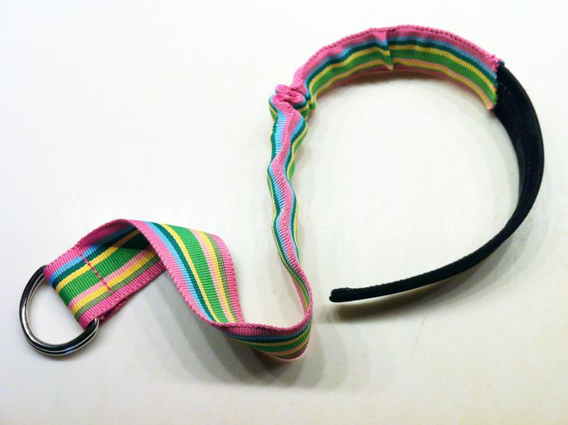 DIY ribbon belt headband - so easy!