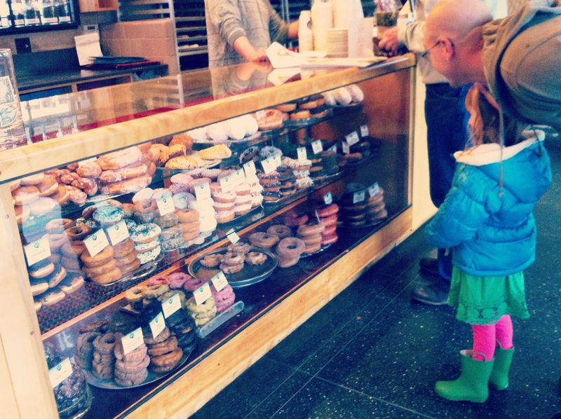 Getting lucky on St. Patrick's Day with a trip to the donut shop.