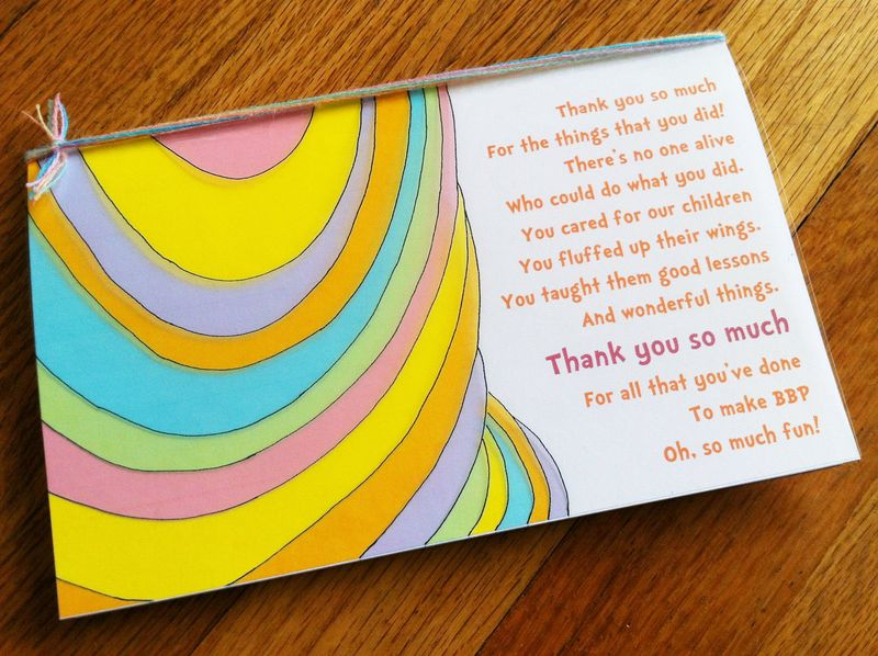 Oh The Places You'll Go - free printable teacher thank you card.