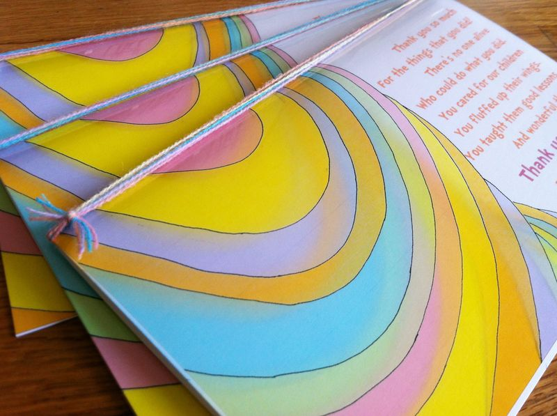 Oh The Places You'll Go themed teacher thank you card - free printable!